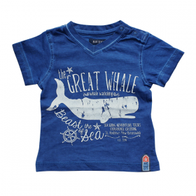 Blue Seven blauw shirt the great whale – 62, 80