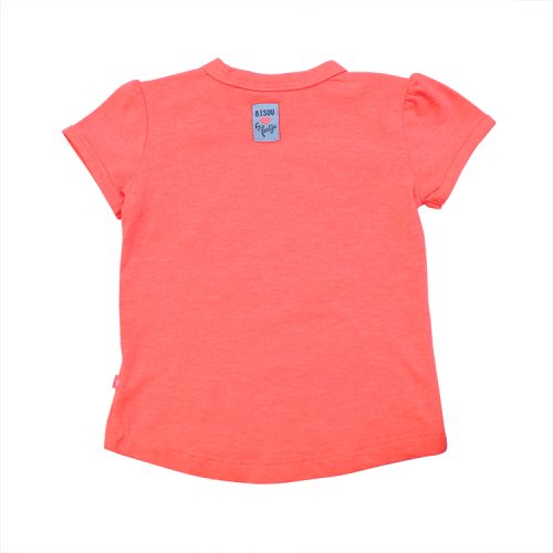 Feetje fel oranje roze shirtje dream girl – 56, 62, 68