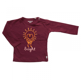 Imps and Elfs donkerrode longsleeve 'bright' - maat 68