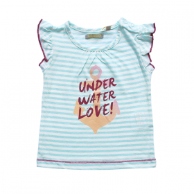 Tricky Tracks shirt under water love groen – 68, 74