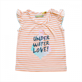 Tricky Tracks shirt under water love oranje – 68